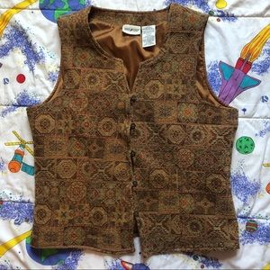 VTG 90s Southwestern Embroidered Vest